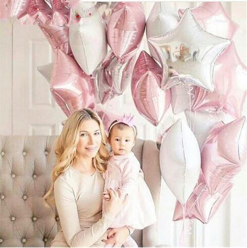 18-дюймовые пятиконечные воздушные шары алюминиевой фольги звезды гелия для свадьбы и событий 19 цветов