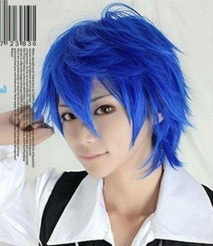 VOCALOID Kaito blue Short Anime Cosplay Wig Party Wigs
