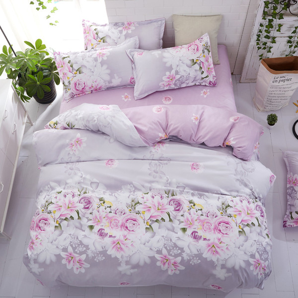 4pcs Girl Bed Cover Set Duvet Cover Adult Child Bed Sheets And Pillowcases Comforter Bedding Set
