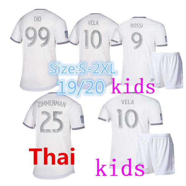 2019 2020 Los Angeles FC Futbol formaları EV GABER 4 VELA 10 Yetişkin Futbol formaları Çocuk Kiti Açık T-shirt 19 LAFC uzakta futbol forması