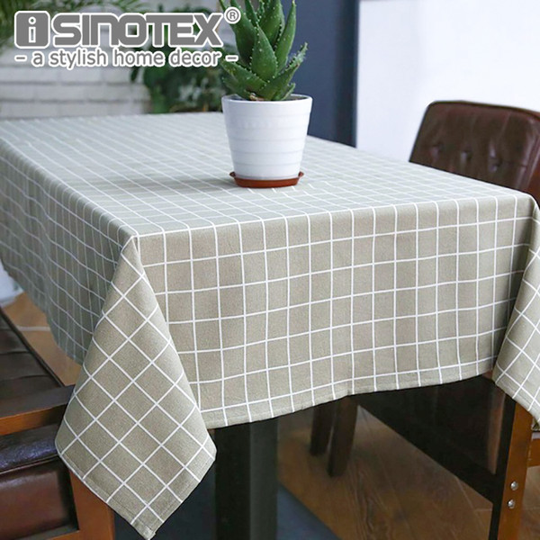 Toile de lin Sytlish Linen Country Country Plaid Print Multifonctionnel Rectangle Table Cover Table Nappe Accueil Cuisine Décoration