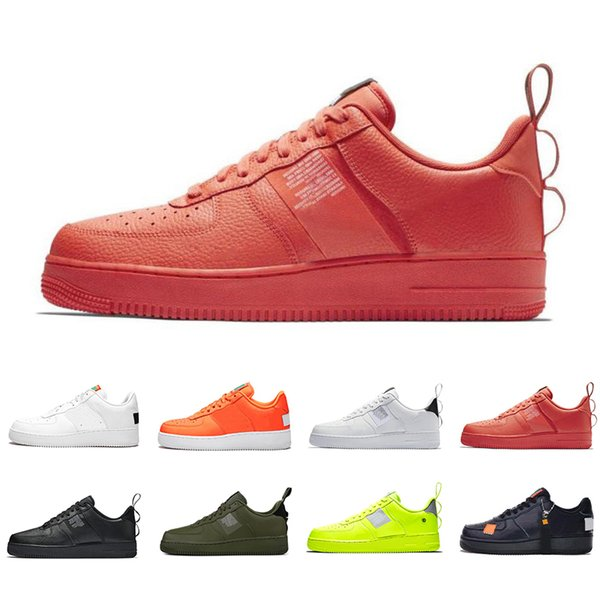 Compre Calidad Nike Air Force 1 Utilidad Classic Black White Dunk Hombres Mujeres Zapatos Casuales Red One Sports Skateboard High Low Cut Trigo