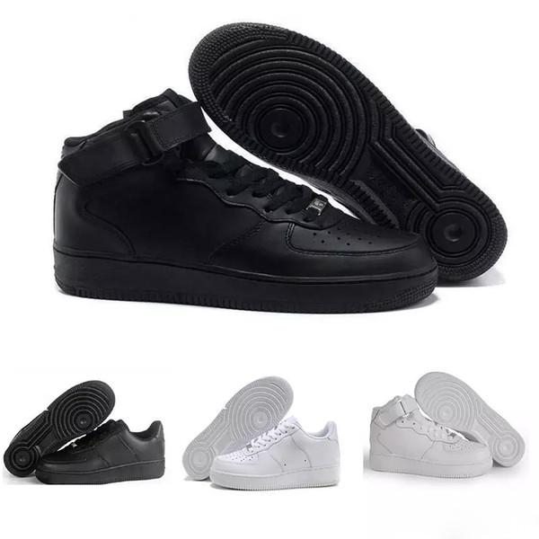 pas cher pour réduction 983d1 e8d92 Acheter Nike Air Force 1 Af1 2019 Haute Qualité Nouveaux Classiques Tous  Hauts Et Bas Blancs Blé Noir Hommes Femmes Sports Chaussures De Course ...