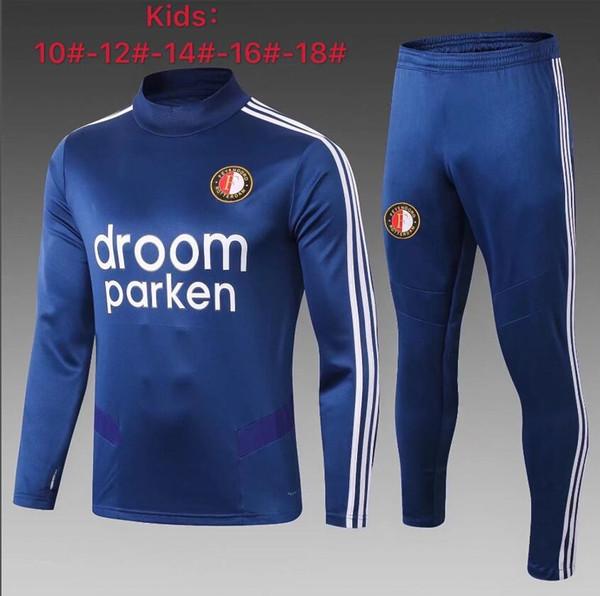 19 20 Kinder Feyenoord Rotterdam Fußball Trainingsanzug Jacke 2019 V.PERSION MOUNT MBAPPE POGBA KANTE ISCO KROOS BOY Trainingsanzug SPORTSWEAR