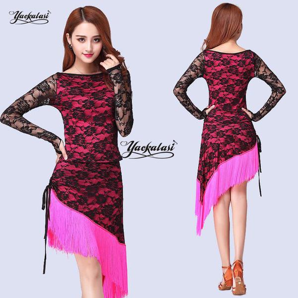 Nueva venta caliente vestidos de baile latino para dama de manga larga faldas de las mujeres vestido de fiesta vestido de fiesta de moda fashions ess