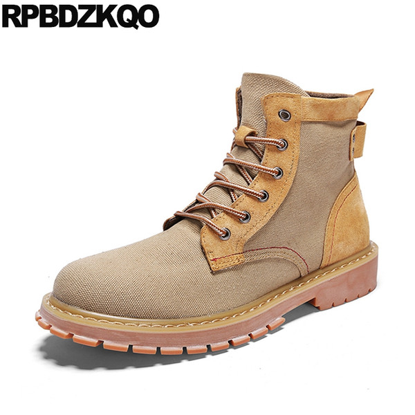non slip military canvas shoes army men boots fall british style fashion 2018 combat lace up booties autumn ankle designer short