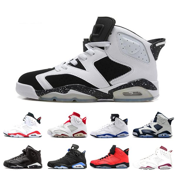 Cheap 6 6s Alternate Angry bull Black Cat Carmine Basketball Shoes Mens Oreo high White Infared Sport Blue UNC Sneakers size 7-13