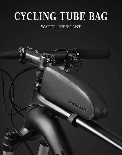 ROCKBROS Waterproof Bike Bag Large Capacity Bag Top Tube Bag  Black S