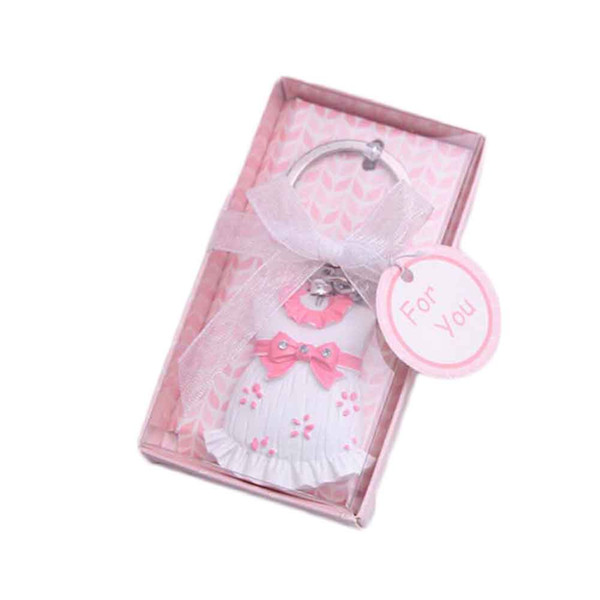 1 Piece Keychain Favor Baby Shower Cute Baby Clothes Keychain For Boy And Girl