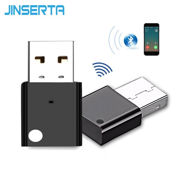 Kit lettore MP3 per auto wireless JINSERTA Ricevitore musicale Bluetooth 4.0 Adattatore audio USB per PC Sistema audio domestico per altoparlanti