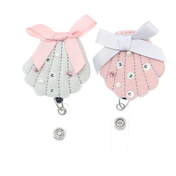 Fashion 20pcs 12kinds cute handmade cotton felt rabbit/crown/butterfly animal Retractable nurse id badge holder/reel for children's gift