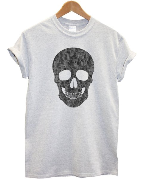 Skull Skull T Shirt Emo Indie Hipster Mens Womens Kids Clothing Fashion Style funny 100% Cotton t shirt