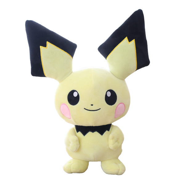 11.8 Inch Pikachu Plush Toy Stuffed Animal Soft Cute Doll for Kids Children Birthday Holiday Christmas Gifts TV Movie Collection Toys Yellow