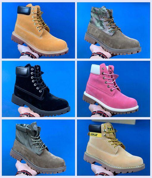 2019 fashion men luxury designer desert pink red camo ladies women winter boots mens leather work boots waterproof rain bottes hiking shoes thumbnail
