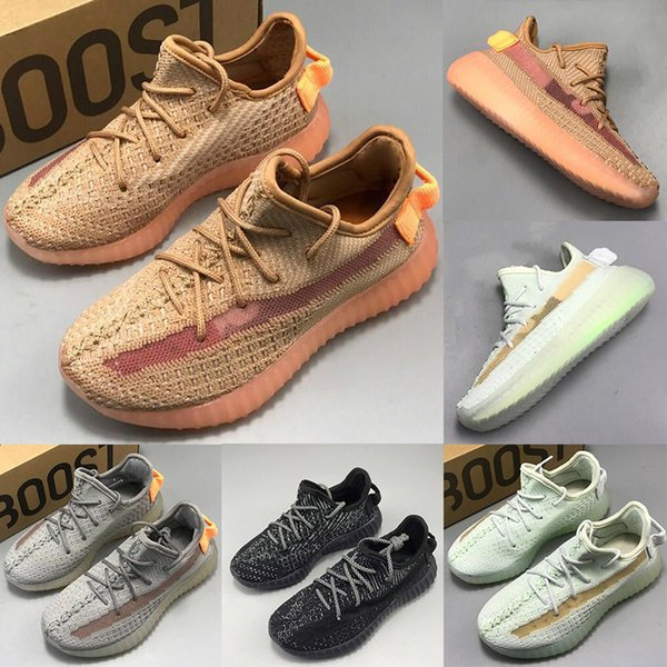 Kids V2 Clay Kanye West Running Shoes For Boy Girl Hyperspace Static True Form Children Sport Designer Sneakers Trainers Cheap Size 24-35