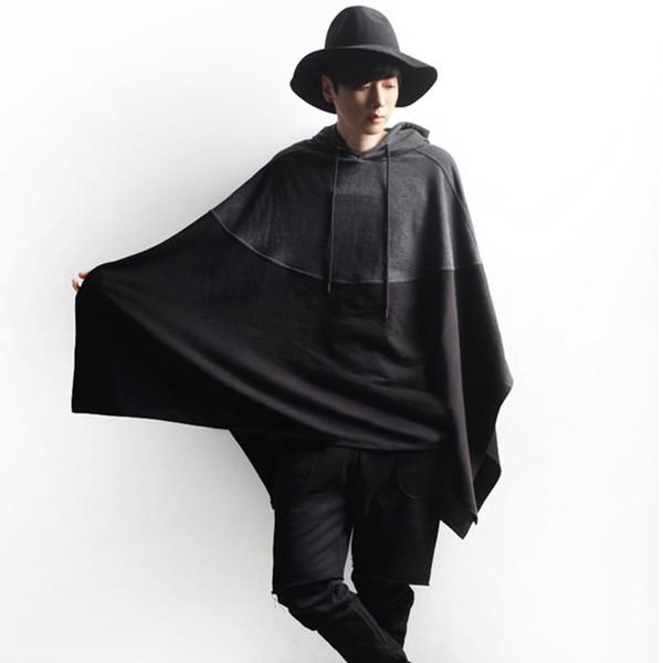 Frete grátis Com Capuz Hoodies Dos Homens Camisolas Coréia Populares À Moda Camisolas Dos Homens Grandes Hip Hop Plus Size Roupas Hoodies