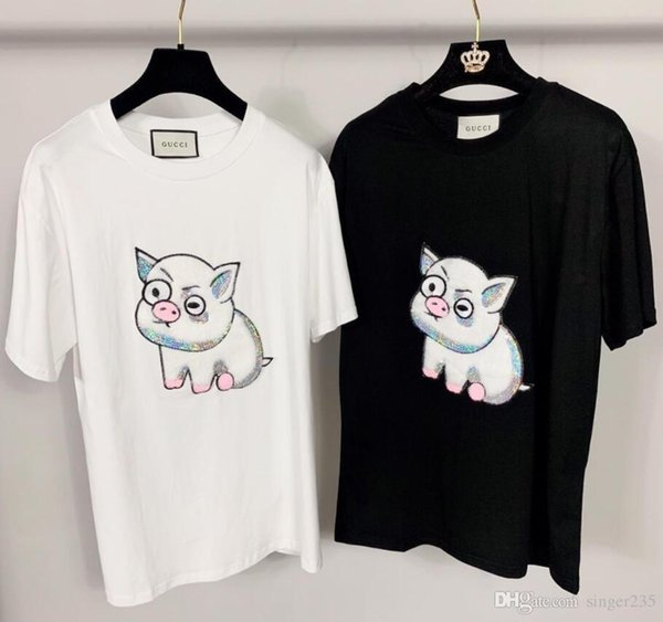 Autumn Crew Neck Women T-Shirts Luxury Europe italy High Quality T-shirt for girl Fashion Women T-Shirt Casual Cotton Tee Top