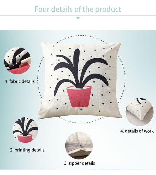 Christmas Cushion Cover Decorative Pillow Case For Home Printed Sofa Seat Case Car Pillowcase Soft Bed Pillow Case BZT01