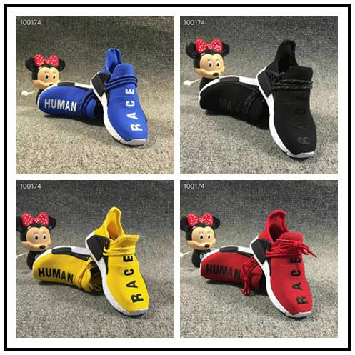 Big Kids NMD Sports Shoes for Kid Human Race Trainers Boys Pharrell Williams Pour Enfants Chaussures Children Sport Shoe Youth Sneakers