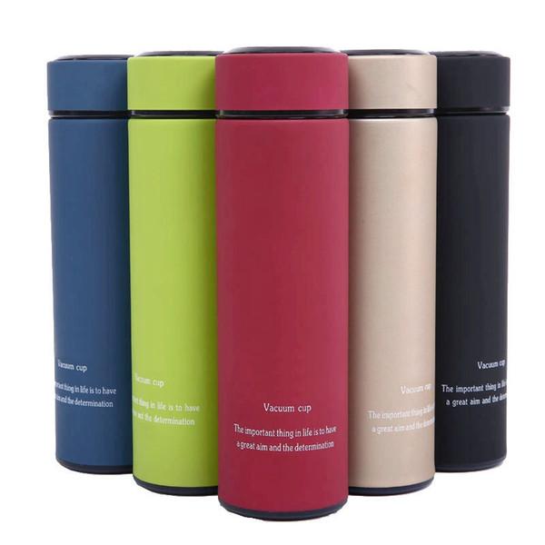 500 ml de aço inoxidável com isolamento garrafa vida portátil xícara de café xícara de chá de água 5 cor para escolher HHA566