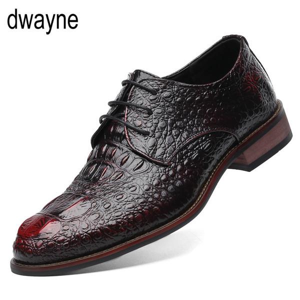 İngiliz Tarzı erkek Hakiki Deri Timsah Ayakkabı Klasik Iş Rahat Ayakkabılar Moda El Yapımı Elbise Flats Oxfords jkm # 7827
