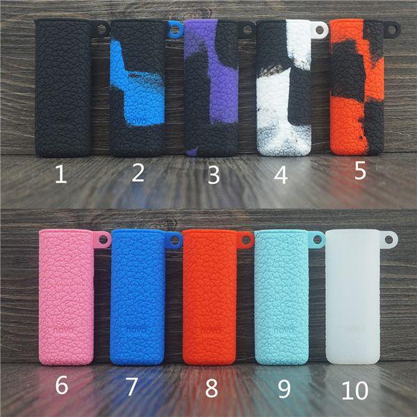 Novo Silikonhüllen Silikon Skin Cover Gummihülse Schutzabdeckungen für SMOK Novo Vape Stiftkassette-Patronen-Kit Batterie Mod 10 Farben