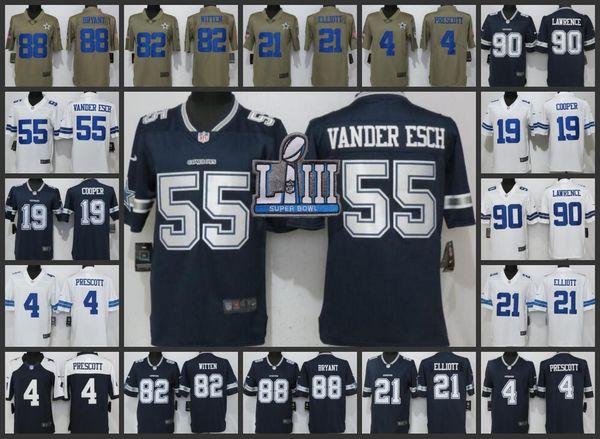 los angeles a6da3 b00d9 2019 Super Men Bowl Dallas Cowboys Women Limited Jersey #4 Dak Prescott 21  Ezekiel Elliott 55 Leighton Vander Esch Youth Jerseys Bright Colored ...