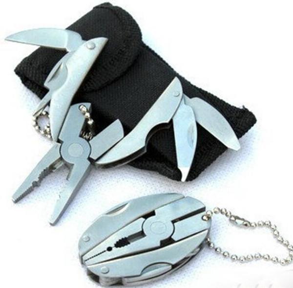 Camping Portable Outdoor Mini Foldaway Multi Function Tools Set Pocket Keychain Pliers Knife Screwdriver Key Chain Llaveros