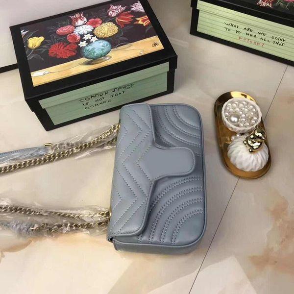 Bolsos de diseño Las mujeres más nuevas Bolsos Bolsos de hombro del diseñador Correa de hombro de la cadena Bolso bandolera del diseñador de la marca de alta calidad Con la caja