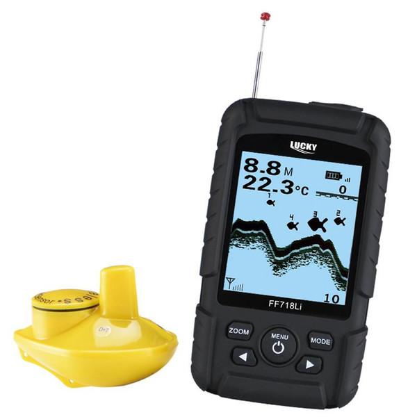 FF718Li-W Fishfinder ricaricabile wireless impermeabile Fishfinder Monitor Sensore sonar Profondità pesce Allarme telefono ecoscandaglio visivo pesca