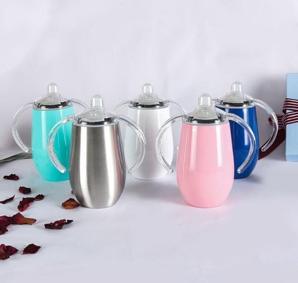 Stainless Steel Sippy Cup 8oz Double Wall Vacuum Insulated Stainless Steel Tumbler Wine Coffee Beer Tumber Mugs DHL FREE