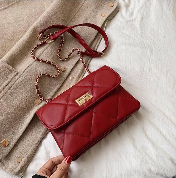 Новая модная диагональная цепная сумка с простой квадратной сумкой на одно плечо