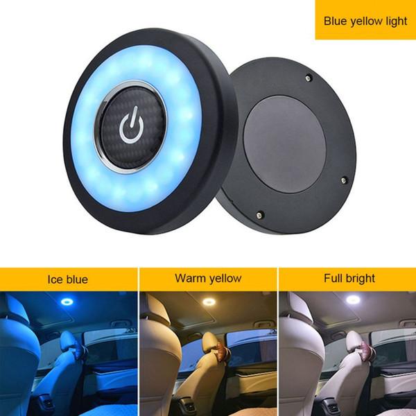 Luce di ricarica USB a LED Lampada da lettura portatile per auto Veicolo interno Mini Book Light ricaricabile per interni auto