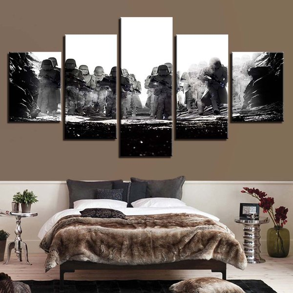 Modular Pictures Wall Art HD Prints 5 Pieces Canvas Movie Painting Home Bedside Background Decor Modern Artwork Poster