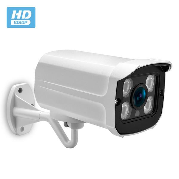 Fotocamera IP da esterno grandangolare 2.8mm Custodia in metallo PoE 1080P 960P 720P Custodia in metallo ONVIF Impermeabile 2MP IP Camera CCTV 4PCS IR ARRAY LED