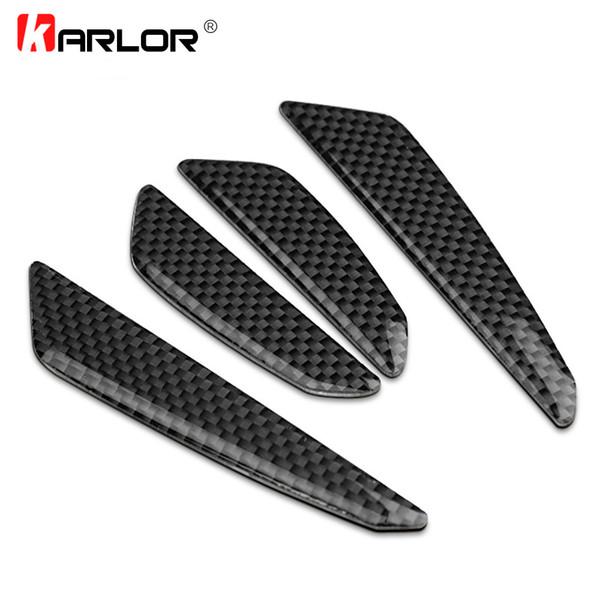 Accessori esterni Adesivi per auto 1 Set di qualità in fibra di carbonio Barra anticaduta Nastro anticaduta 100% 3D Porta Rosso Nero Argento Auto Auto