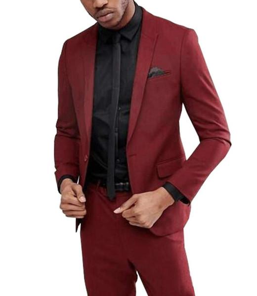 New arrival Best Men Suits for Wedding One-button Groomsmen Bridegroom Dinner wedding Suits Slim Fit (Jacket+Pants)