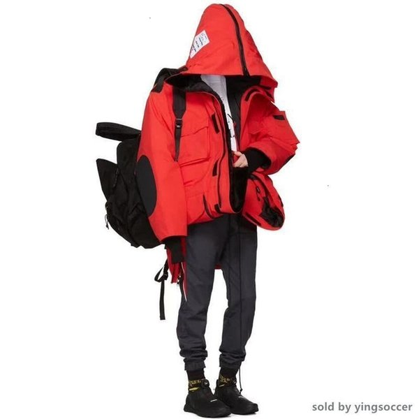 la capa 2019 17ß VETEMENTS X C Hombres Mujeres ganso largo de Down Abrigos Expedición Negro Rojo Suecia Noruega por la chaqueta de moda Outwear
