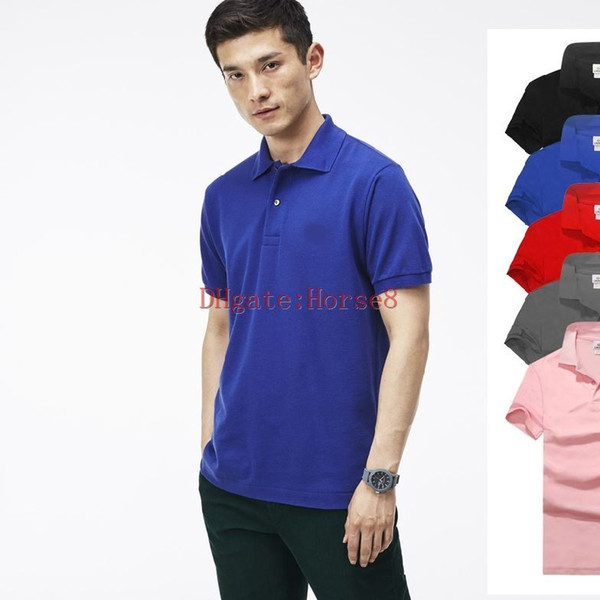best selling 2019 Best seller New crocodile Polo Shirt Men Short Sleeve Casual Shirts Man's Solid classic t shirt Plus Camisa Polo 801