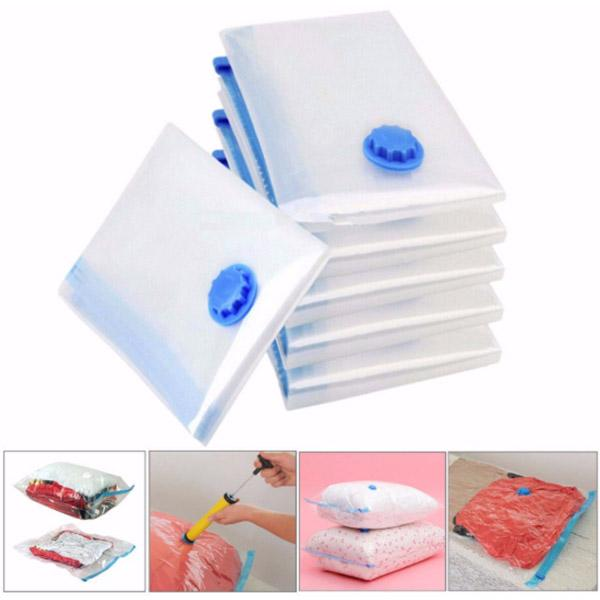 5Pcs Travel Vacuum Storage Bags Space Saving Travel Pack Clothes Suitcase with Pump Hogard