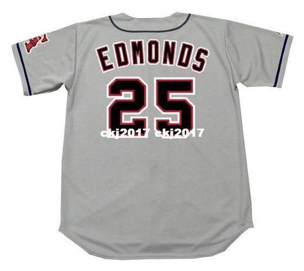 Cheap Custom JIM EDMONDS California Stitched 1996 Majestic Vintage Away Baseball Jersey Retro Mens Jerseys Running
