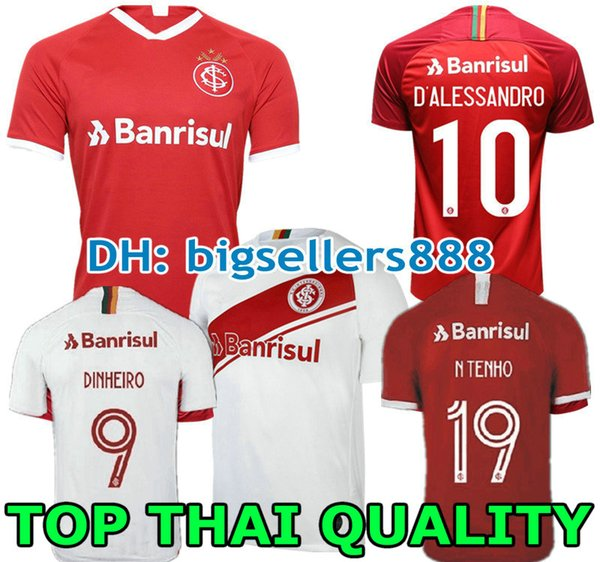 N. LOPEZ D.ALESSANDRO POTTKER 19 20 Brésil maillot de football Internacional WOMAN RED HOME 2019 2020 Maillot de football extérieur