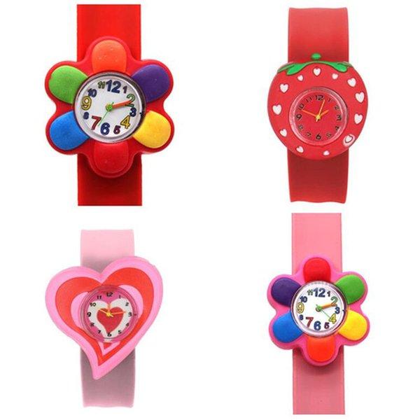 top popular Children Slap Watch Cute Cartoon Quartz Analog Wristwatches Silicone Sport Watch Kids Student Christmas Gift Watches 2020