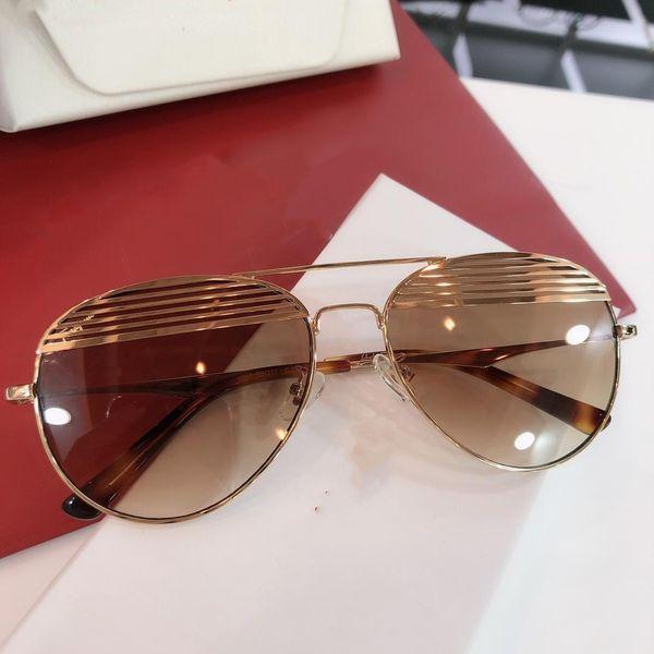 Popüler Yeni Marka Güneş Tasarımcı 1063 Retro Yuvarlak Çerçeve Gözlük Trend Avangardı Stil Gözlük Lens Lazer UV400 Koruma ile Kutusu