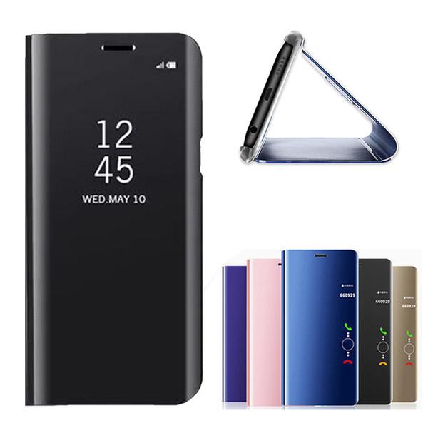 Placage Métallique Officiel Smart Stand Miroir Flip Full Cover Case Pour Samsung Galaxy M30 M20 M10 A90 A70 A40
