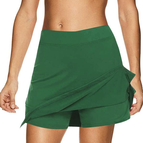 Women's Solid Color Striped Sports Short Skirt Performance Skirt Running Tennis Golf Exercise Sports 6.8