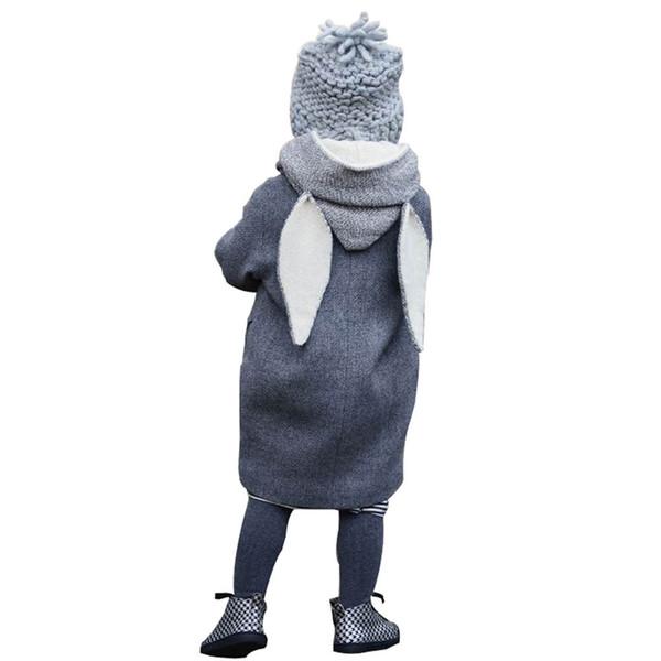 2017 Netter Baby-Kind-Herbst-Winter Mantel mit Kapuze Kaninchen-Jacke starke warme Kleidung Geschenk super Qualität-Babykleidung 1-8