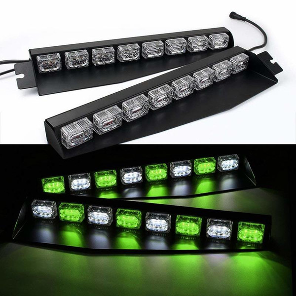 48LED 48W LED Work Light Green/White Led Light Bar A Police Car Light Home Off Road Car Accessories