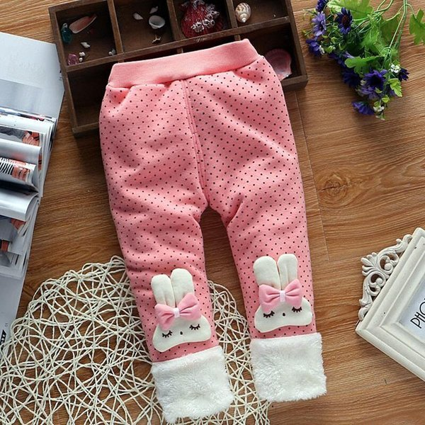 good quality girls pants autumn winter kids girls cartoon thicken trousers casual warm legging kids girls clothes velvet clothing