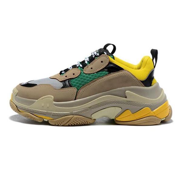 досуг Оптовая мульти FashionSale мода обувь низкий топ кроссовки тройной S Мужчины Женщины Повседневная обувь спортивные кроссовки обувь
